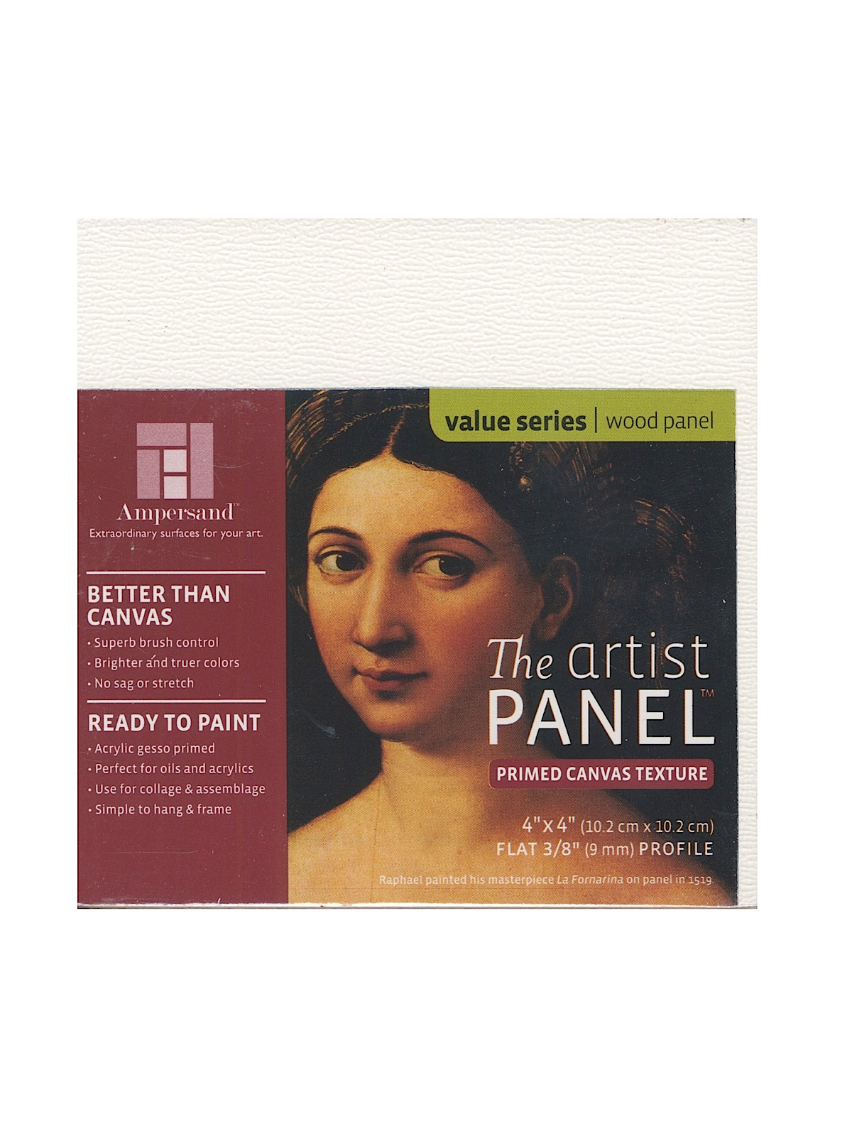 The Artist Panel Canvas Texture Flat Profile 4 in. x 4 in. 3 8 in.