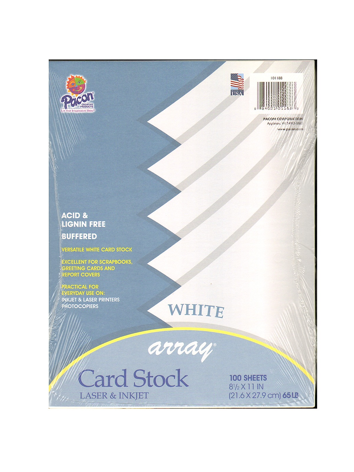 Array Card Stock white 8 1 2 in. x 11 in. pack of 100